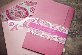 gatefold style invitation booklet pink paisley inspired lepenn