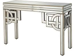 wood and mirrored console table claridge deco mirrored console table console tables art deco and