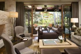 zen decor modern living room design with wooden coffee table and contemporary