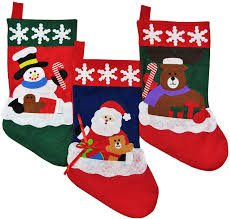 christmas stockings for kids set of 3 santa stocking with