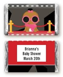 a star is born hollywood baby shower miniature candy bar wrappers