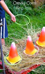 Thanksgiving Game Ideas For Adults Easy Diy Candy Corn Ring Toss With Glow Necklaces For A Fun Fall