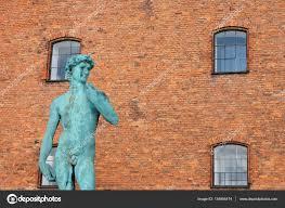 copy of michelangelo u0027s david statue in copenhagen denmark u2014 stock