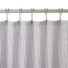 Restoration Hardware Shower Curtain Rings Cotton Duck Shower Curtain Blue Tick Stripe Bathroom