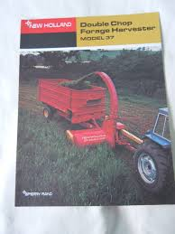 sperry rand new holland 37 double chop forage harvester brochure