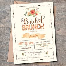 bridesmaid brunch invitations fall bridal brunch invitation bridal luncheon invitations