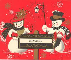 vintage 1950s christmas cards cheminee website