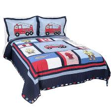 Kid Bedspreads And Comforters Fireman U0027s Fire Truck Little Boys Bedding Full Queen Size Kids