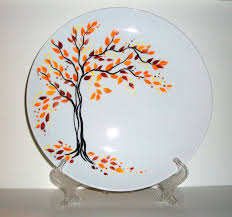 personalized ceramic wedding plates painted wedding plate painted fall is in the air personalized