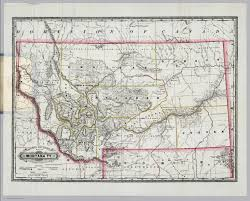 Map Of Montana by Railroad And County Map Of Montana Ty David Rumsey Historical