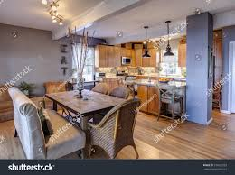 new home remodel new kitchen diningroom stock photo 374522593