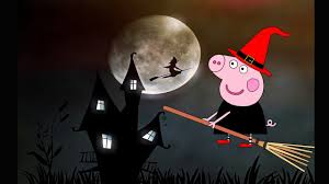 coloring pages peppa pig witch halloween kids animation collection