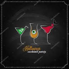 halloween party cocktails menu design background u2014 stock vector