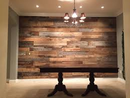 The Hughes Dining Room Reclaimed Wood Accent Wall Fama Creations - Dining room accent wall