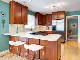 large stainless refrigerator cherry wood kitchen cabinets with
