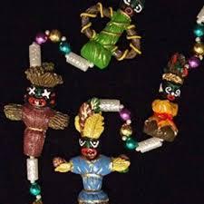 mardi gras doll voodoo doll mardi gras bead necklace mojo from