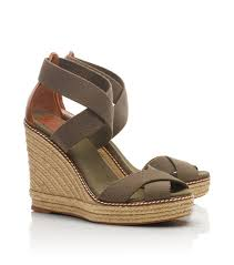15551 by Tory Burch Adonis Wedge Espadrille In Green Lyst
