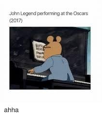 John Legend Meme - john legend performing at the oscars 2017 ahha john legend meme