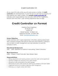 controller resume exle credit controller resume resume cover letter exle