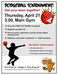 dodgeball tournament publicity tools