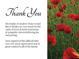 thank you for funeral flowers thank you notes for funeral flowers and food pictures reference