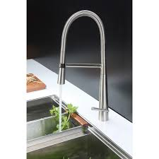 kitchen faucet with soap dispenser ruvati rvf1225k1bn pull kitchen faucet with soap dispenser