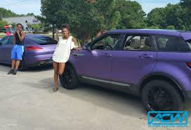 purple range rover 2013 range rover evoque atlanta custom wraps