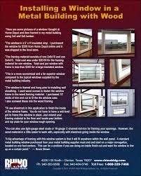 steel building window installation metal building windows