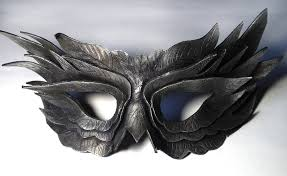 feather masks black feather leather mask by shadows ink deviantart on
