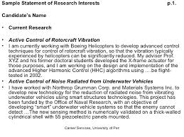 writing research statementsample statement of interest example