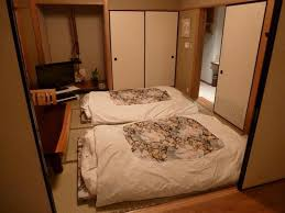 japanese suite with traditional japanese style futon bedding