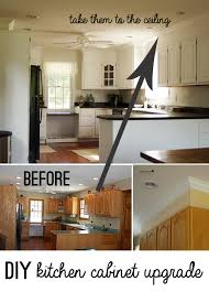 kitchen cabinets top trim diy kitchen cabinet upgrade with paint and crown molding