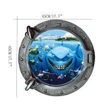 home decor dropship submarine portholes underwater world wall sticker home decor