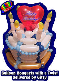 deliver birthday cake and balloons balloon bouquets with a twist