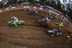 motocross race track race one start australian motul motocross nationals round 2