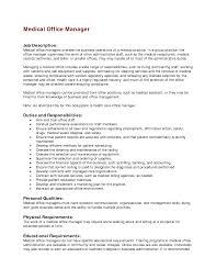 profile of hr manager admin job cv description of an office manager on a resume example