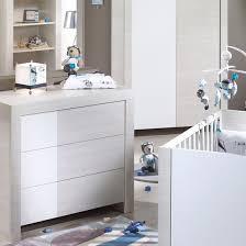 chambre bebe opale lit 60x120 cm commode opale blanc sans décor chambre opale
