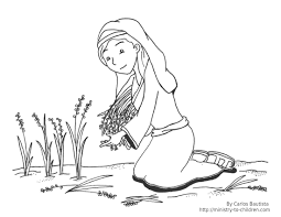 coloring pages for children on the story of ruth and naomi at ruth