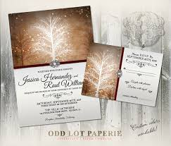 wedding invitations quincy il winter wedding invitation rsvp stationery suite digital