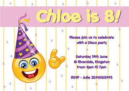 birthday party invitations personalised emotion emoji birthday party invitations