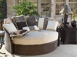 Animal Print Furniture by Exterior Entertaining Outdoor Furniture Lounge Bed With Wicker