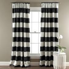 Black And White Window Curtains Stripe Blackout Window Curtain Set Lush Decor Www Lushdecor