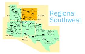 Mesa Az Map Regional Southwest Mapofficial Tourism Site Of Durango Colorado