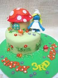 mom u0026 daughter cakes the only female smurf smurfette birthday