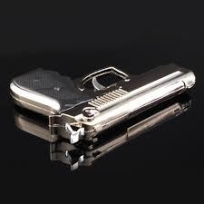 cool gun cigarette lighter gas novelty gadgets pistol electronic