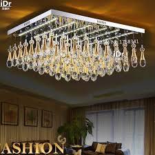 flat square ceiling lights modern lighting fixtures ceiling lights flat crystal l led light