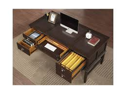 Small Writing Desk With Drawers by Flexsteel Wynwood Collection Walnut Creek Small Writing Desk With