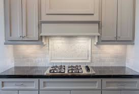 kitchen countertop tile grey painted cabinets with white marble pillowed subway tile