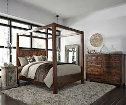 Wood Canopy Bed Kosas Solid Wood Canopy Bed Frame Zin Home