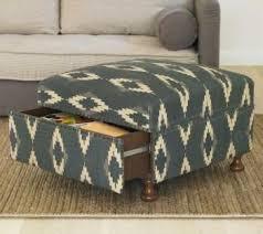 Upholstering An Ottoman Kristine Upholstered Ottoman Blue Target